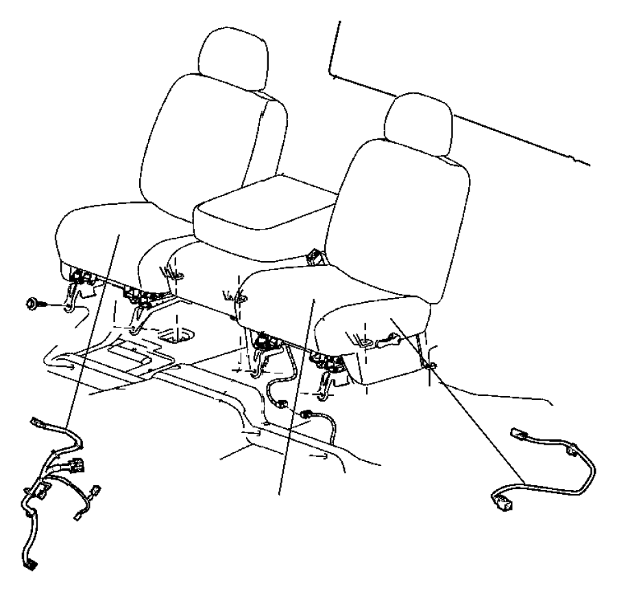 2006 dodge dakota wiring  seat  tag   880032aa  tag