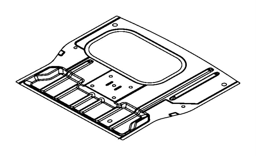 2012 dodge journey pan  rear floor