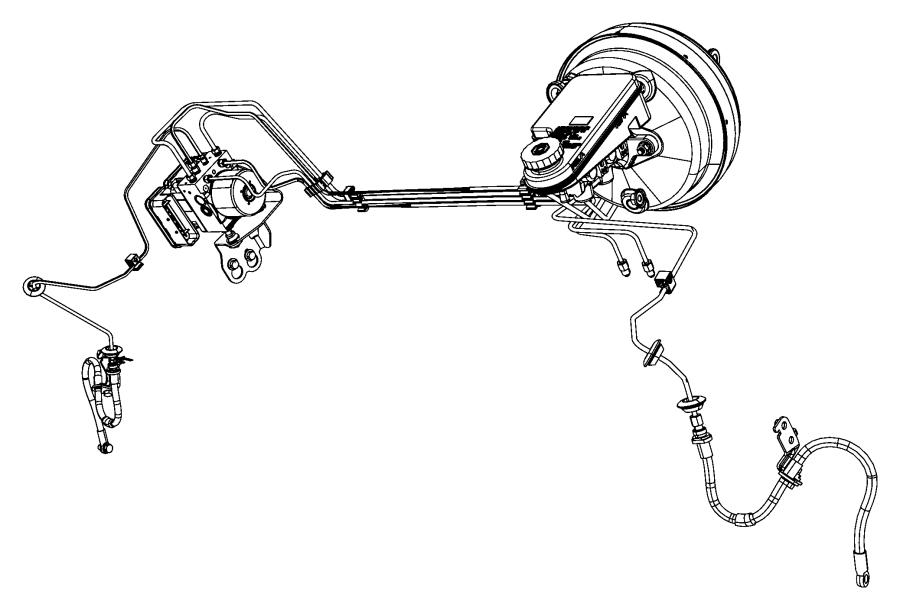 2013 Dodge Journey Hydraulic Control Unit Anti Lock Brake
