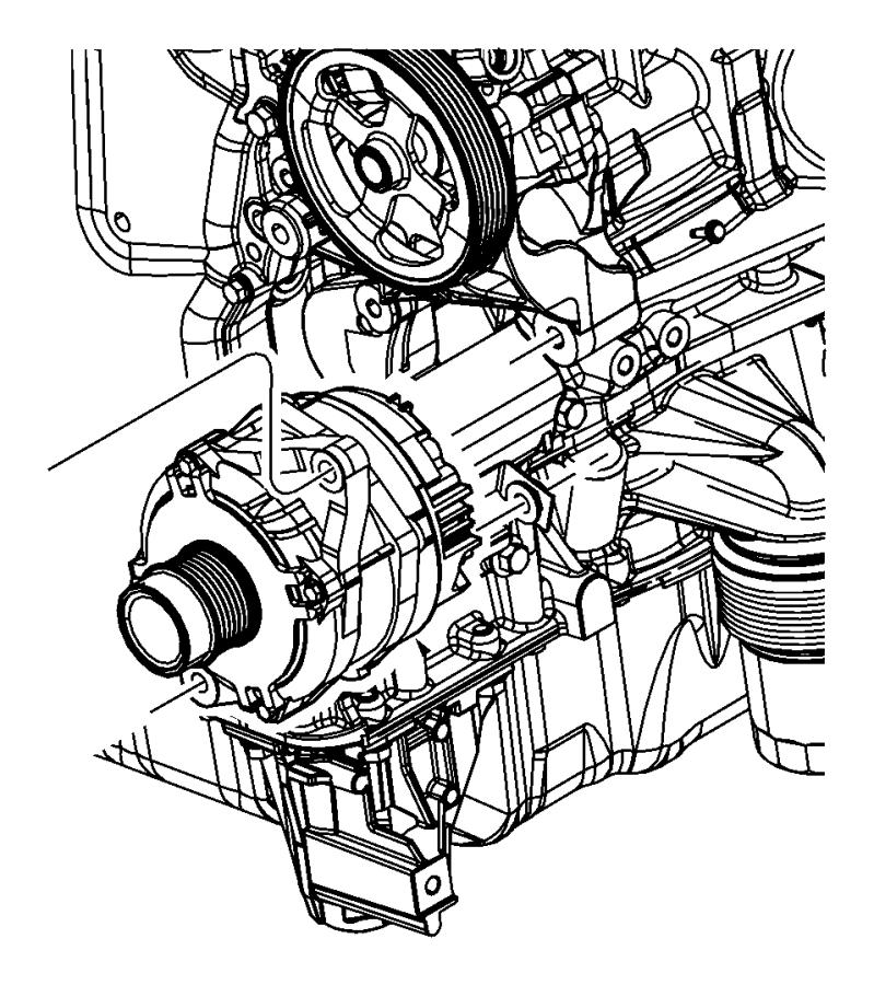 2015 Dodge Journey Generator  Engine  Remanufactured   160
