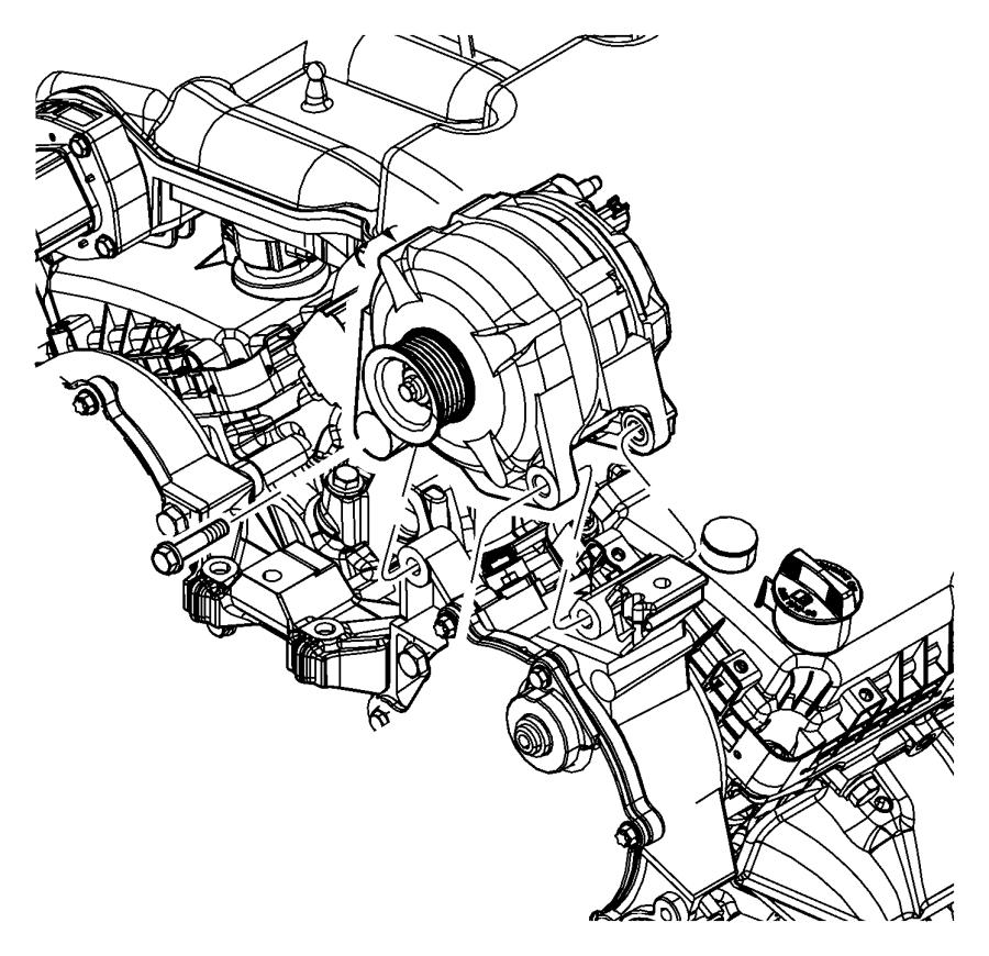 2010 dodge journey generator  engine  remanufactured   160