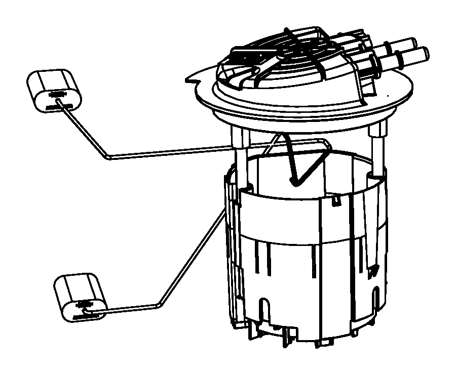 dodge journey module  fuel pump  level unit   20 5 gallon fuel tank