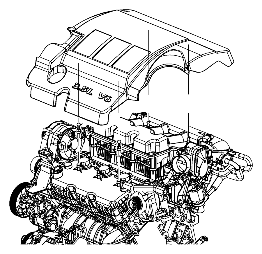 2010 Dodge Journey Cover  Engine