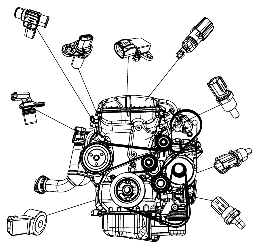 2010 Jeep Patriot Sensor  Map  Intake  Manifold  Transmission