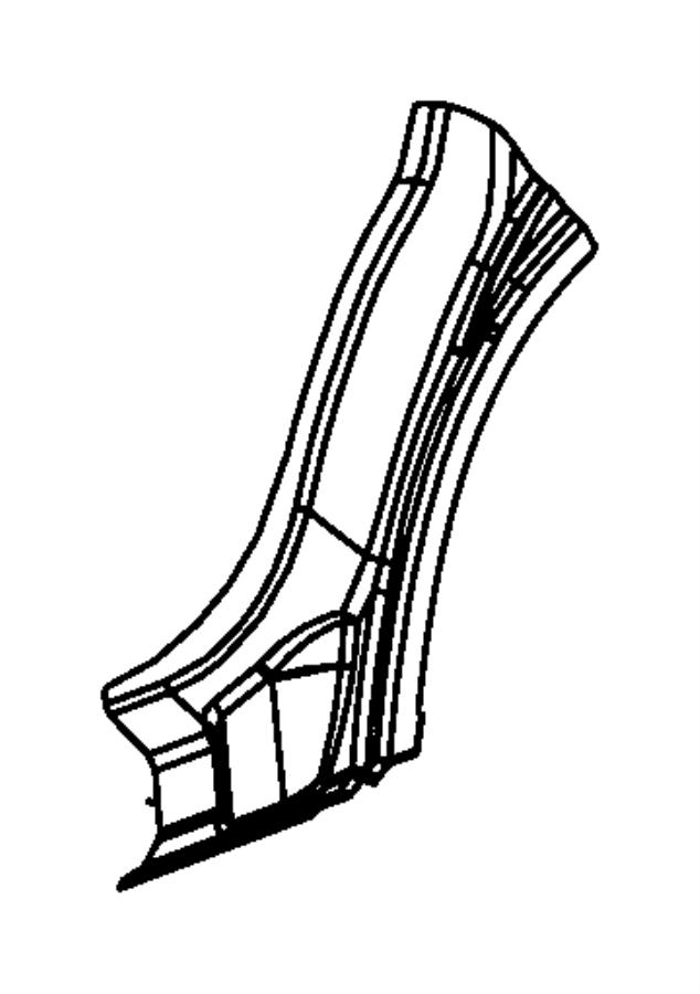 2007 chrysler sebring reinforcement body side aperture