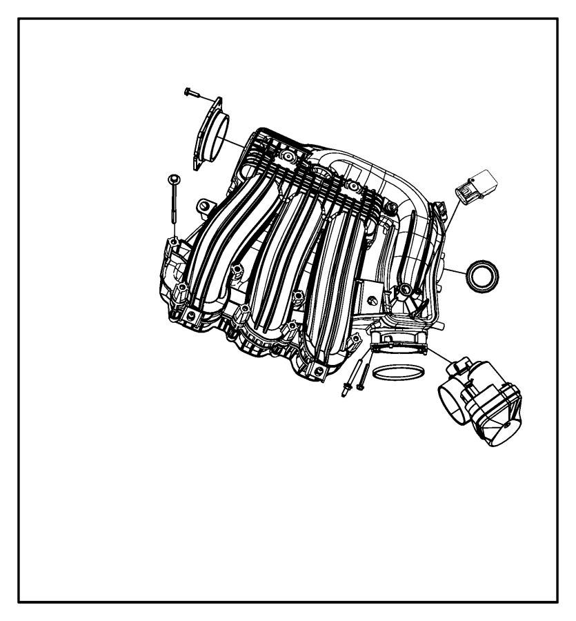 2008 Chrysler Sebring Plenum Intake Manifold 04591983ac
