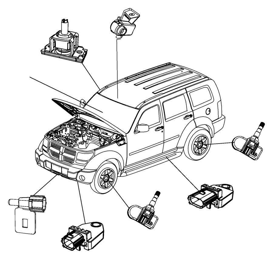 2017 Jeep Wrangler Sensor Impact Front Left Or Right