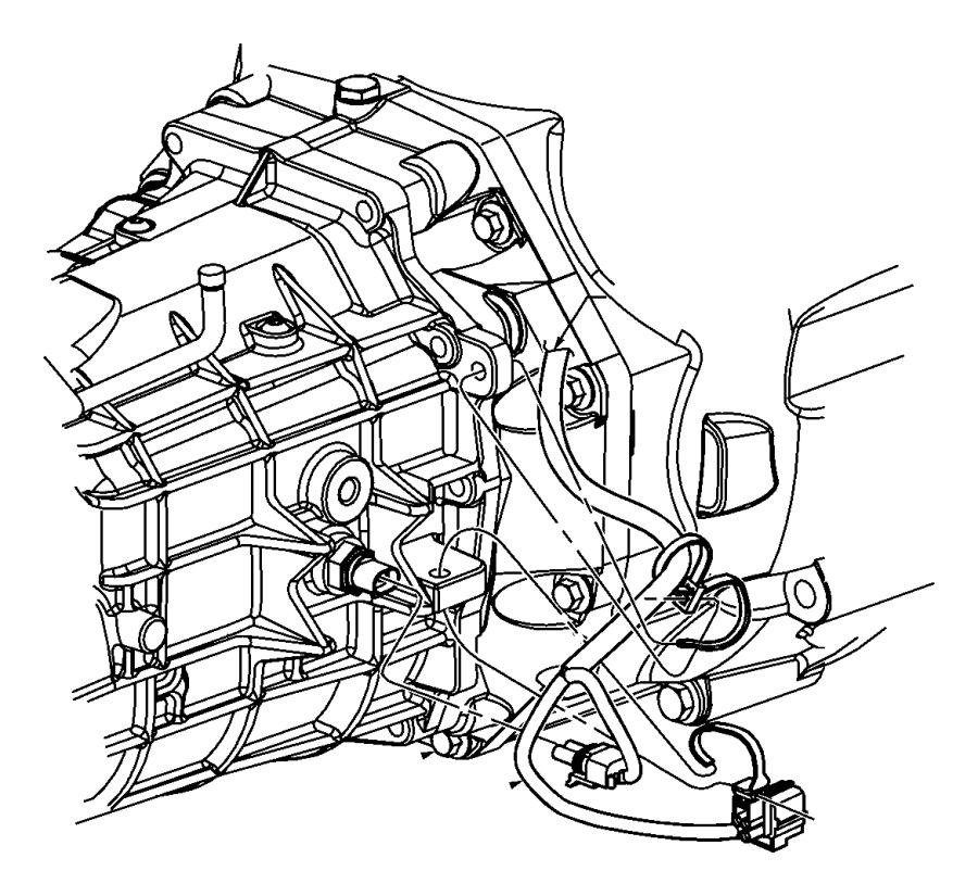 2011 Dodge Challenger Wiring  Transmission   6