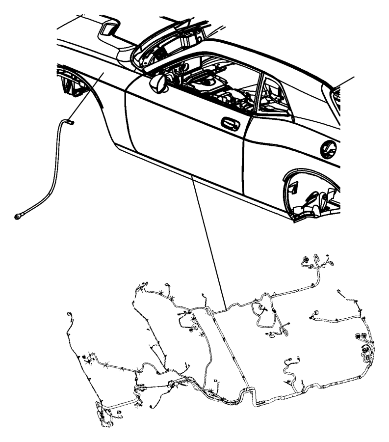 2010 dodge challenger wiring  unified body  display