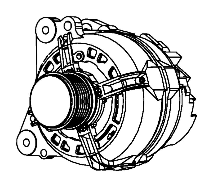 2012 jeep patriot cap  alternator pulley  amp  module