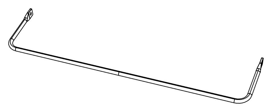 2012 jeep patriot stabilizer bar  rear suspension