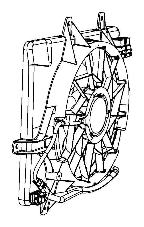 2007 Chrysler Pt Cruiser Fan Module  Radiator Cooling