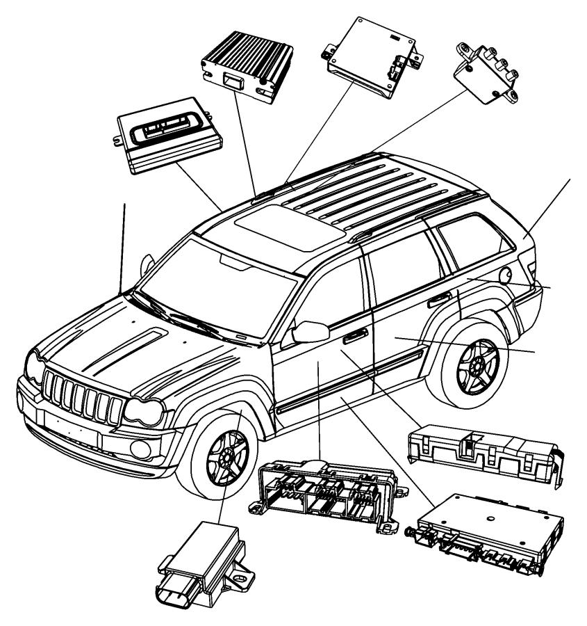 2011 jeep grand cherokee module  transfer case control