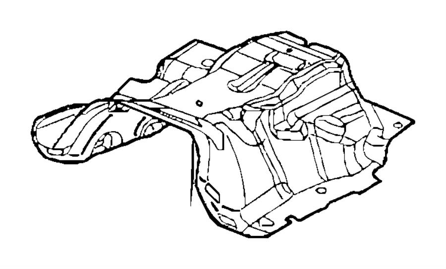 2013 Dodge Durango Insulation Floor Pan Body Front