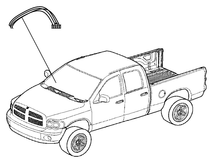 2010 dodge ram 1500 wiring kit  trailer tow  electric brake connector