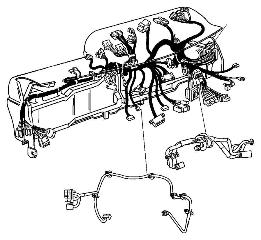 Dodge Ram 2500 Wiring Instrument Panel Module Xrb Xac