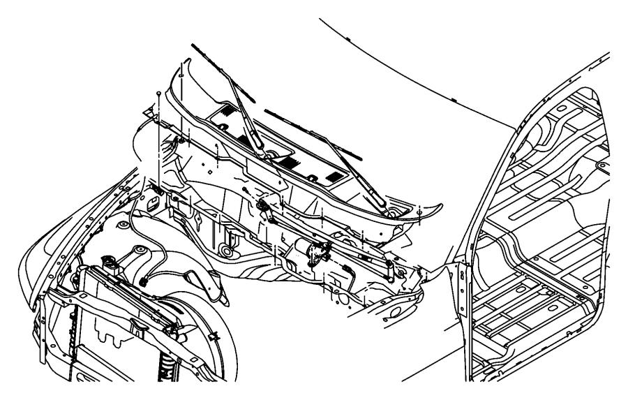 Dodge Ram 2500 Motor  Windshield Wiper  Intermittent