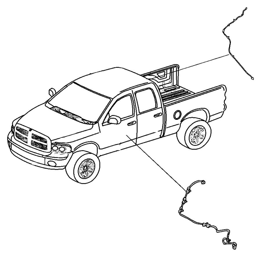 2012 Dodge Ram 2500 Wiring  Wiring Kit  Tailgate  Tailgate