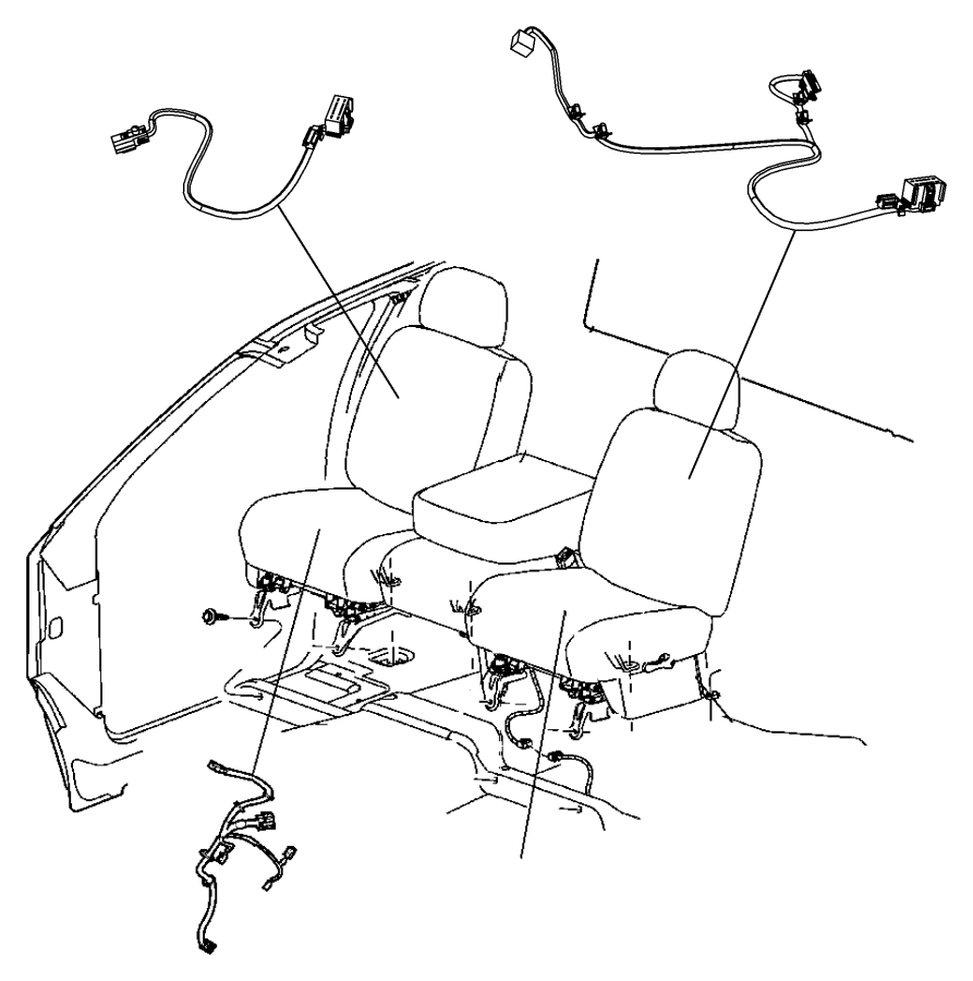 2010 dodge ram 1500 wiring  power seat  right  trim