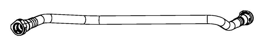 2009 Dodge Nitro Hose  Flow Valve To Canister  Vacuum