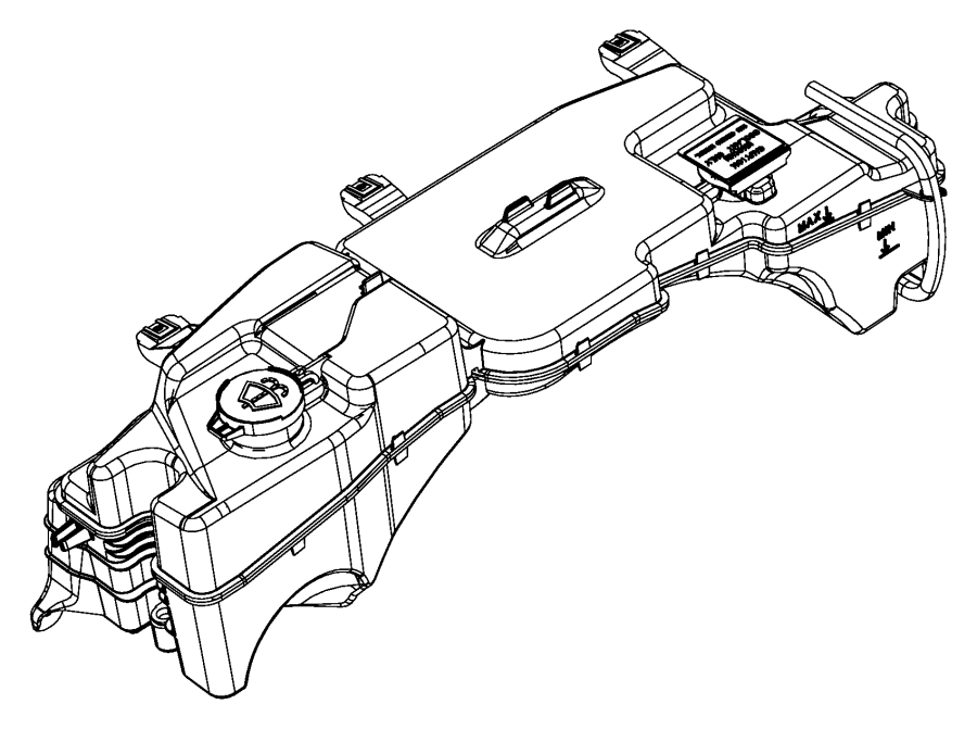 2012 Jeep Liberty Bottle  Reservoir  Used For  Coolant