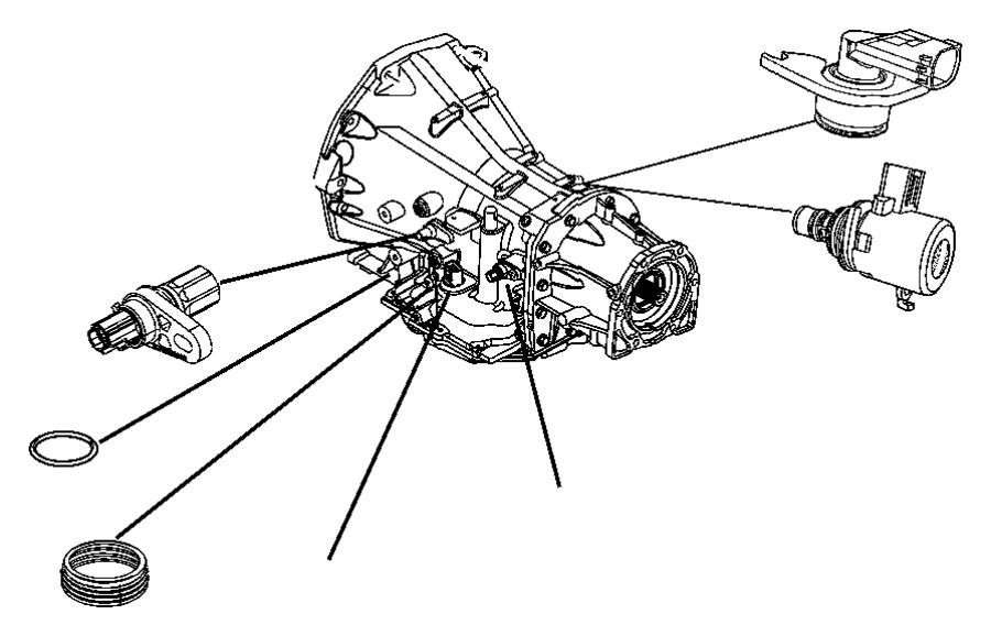 2010 dodge avenger sensor  transmission output speed