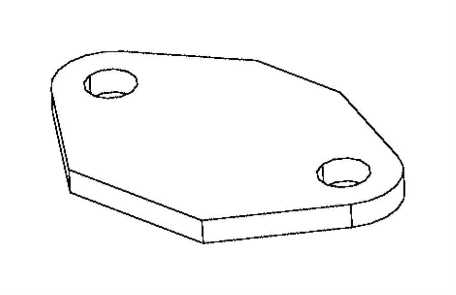1992 dodge gasket  egr tube flange  egr valve flange   3