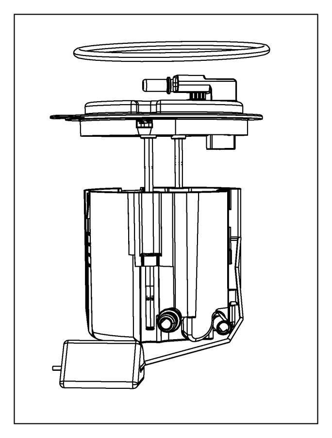 2016 jeep wrangler module kit  fuel pump  level unit   nf2