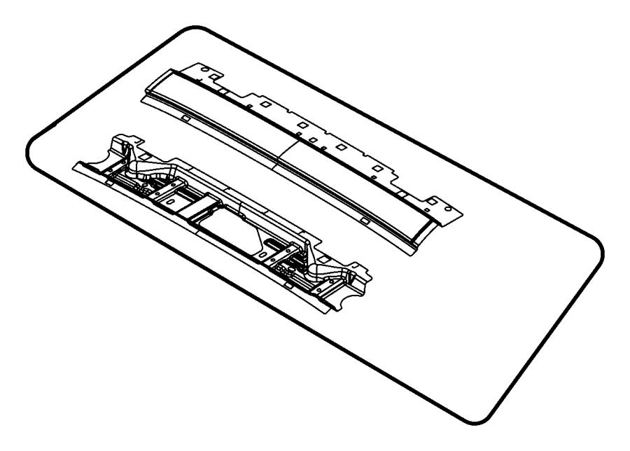 2007 chrysler sebring header  windshield  body  frame
