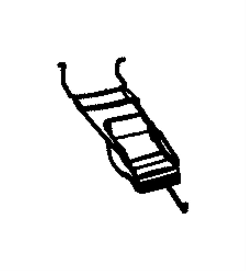 chrysler sebring cover  folding top side rail linkage  left