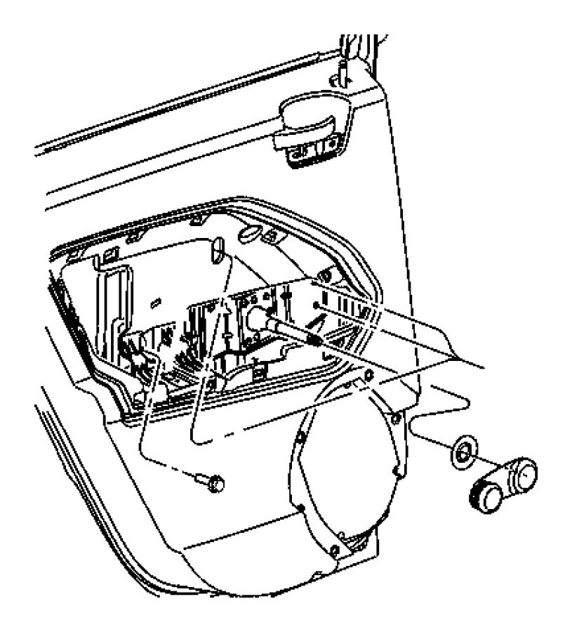 2008 dodge caliber regulator  rear door window  right  power  power window  trim   stain