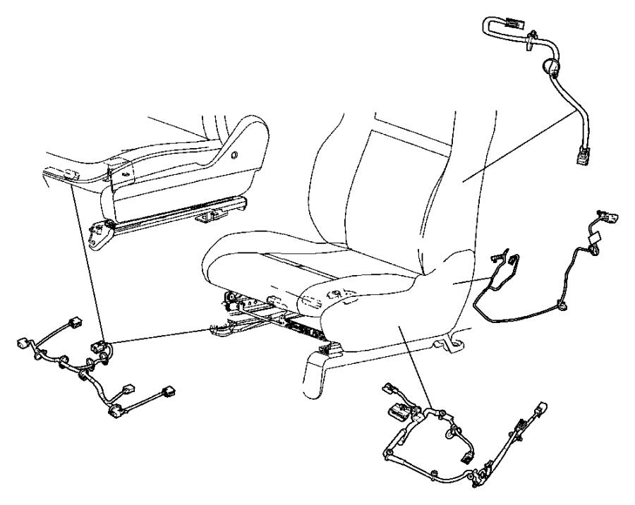 2011 dodge wiring  power seat  trim   cloth low back