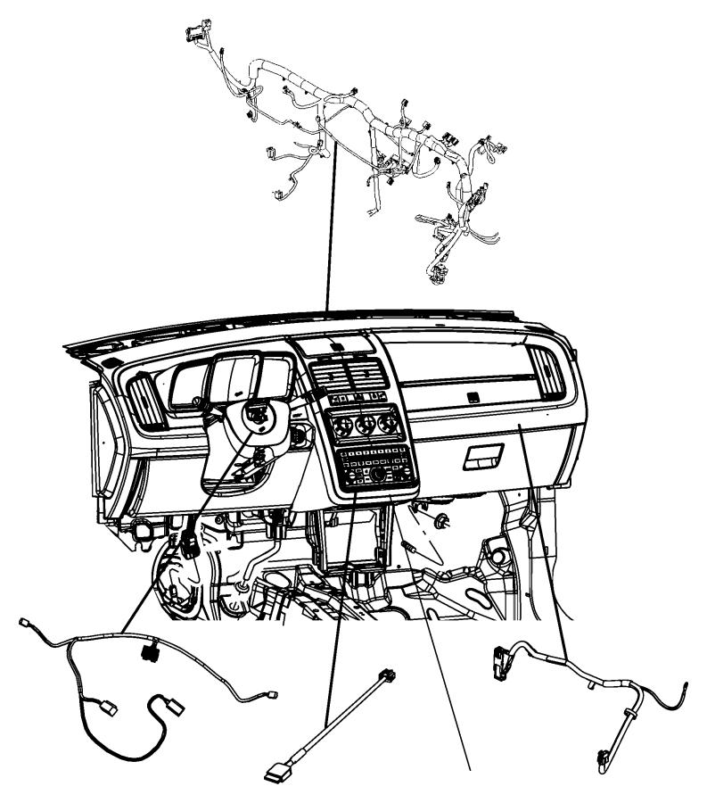 2010 dodge journey wiring  overlay  instrument  panel