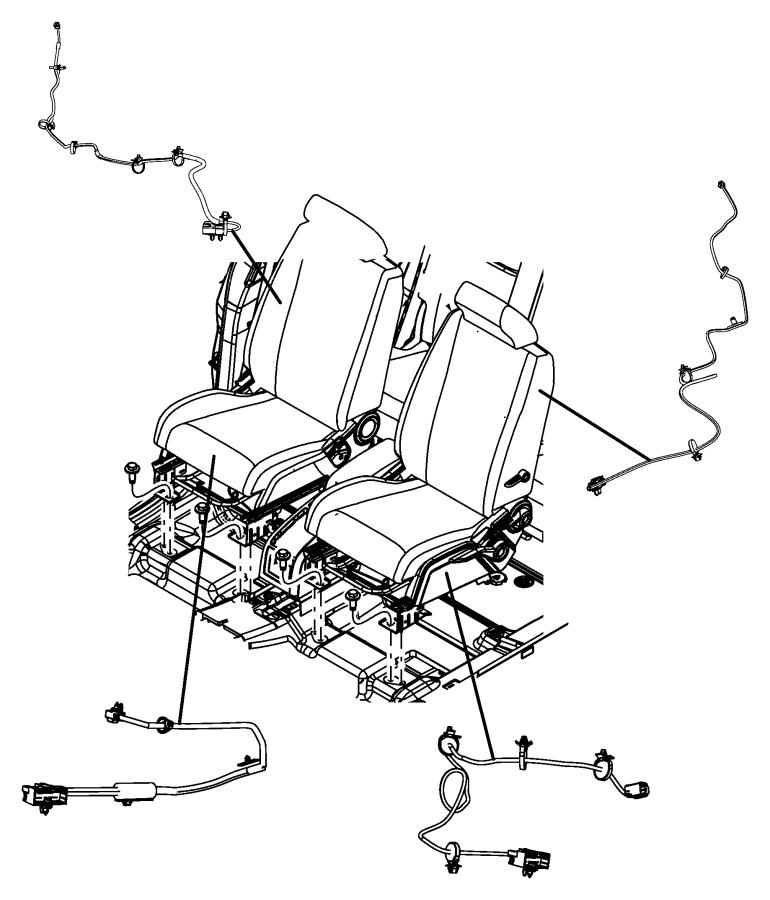 2013 Dodge Journey Wiring  Power Seat  Seat  Trim   Cloth