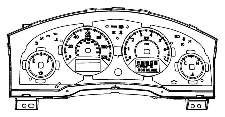 chrysler town  u0026 country cluster  instrument panel  tach