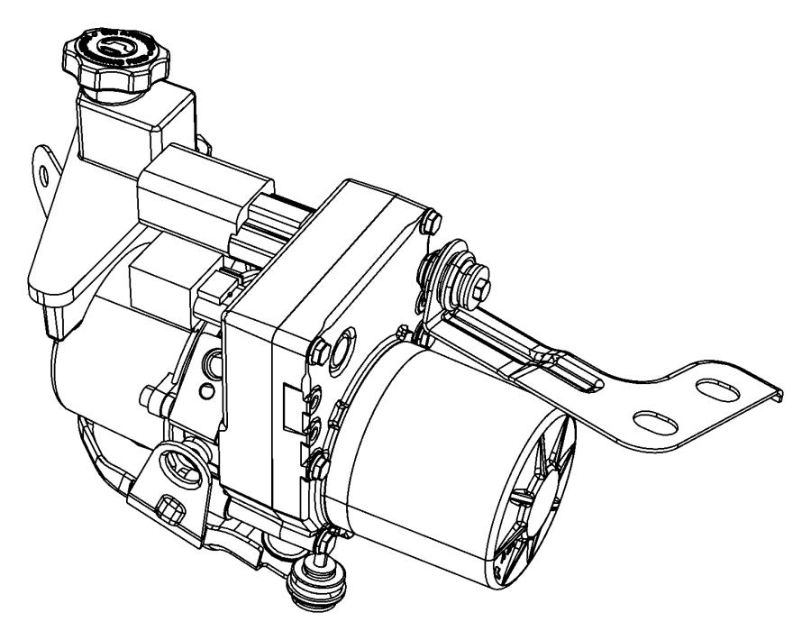 2014 dodge challenger bracket  power steering pump  reservoir  non  ezh