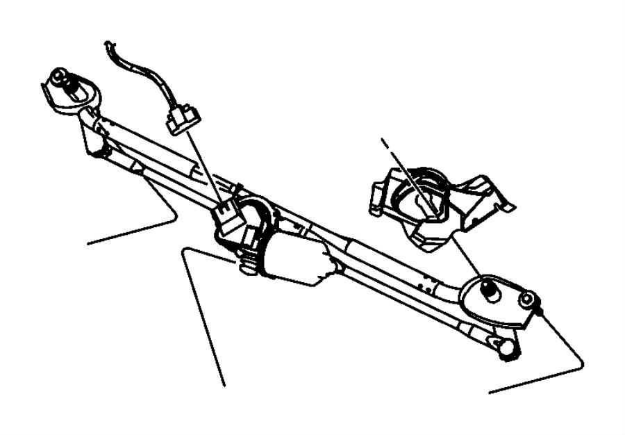 2015 chrysler 300 motor  windshield wiper  system  front