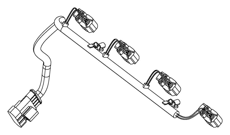 dodge dart wiring  fuel rail  injector  injectors