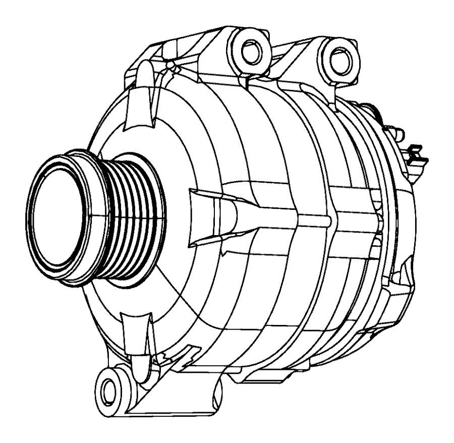 2011 chrysler town  u0026 country generator kit  engine  alternator  amp  module
