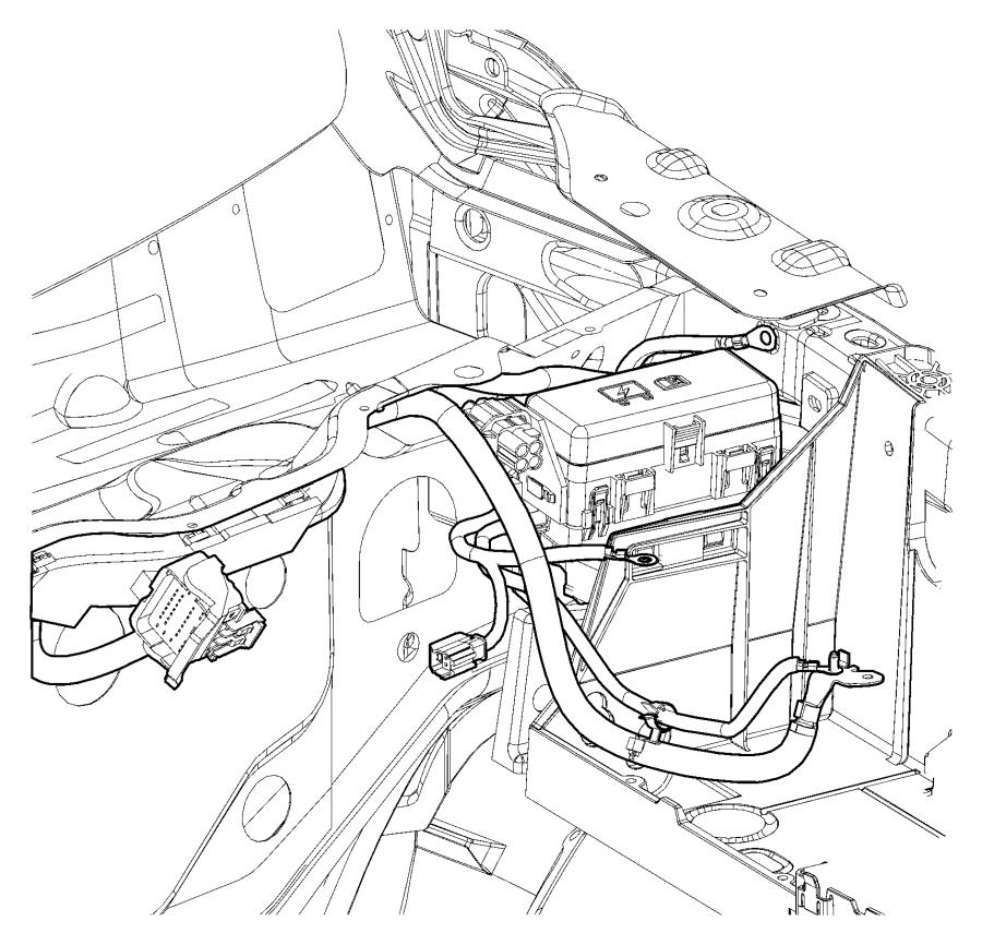 ram 4500 bracket  power distribution center  intregal