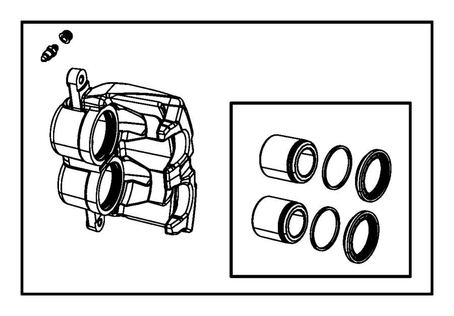 Dodge Dakota Caliper Assembly  Disc Brake  Front  Left