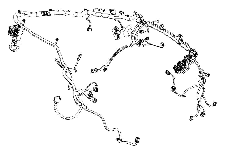 2012 Dodge Ram 1500 Wiring  Dash  Right