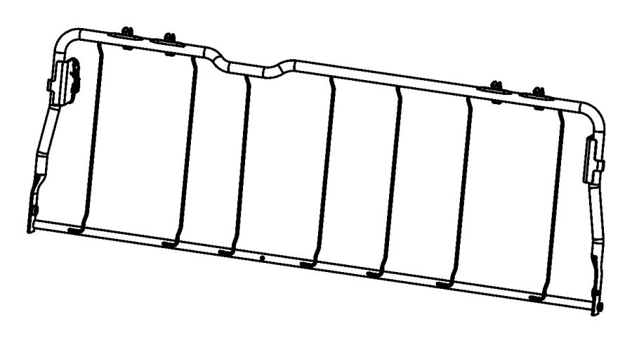 2013 Dodge Ram 1500 Frame Rear Seat Back Rear Folding