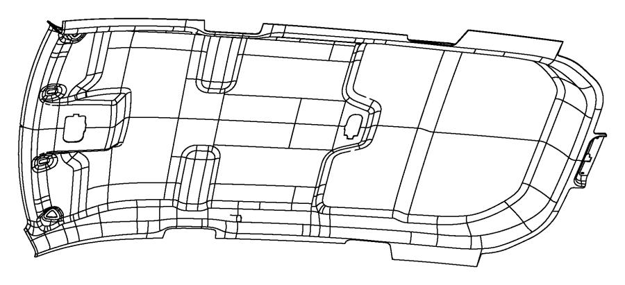 2014 Dodge Journey Headliner Trim No Description
