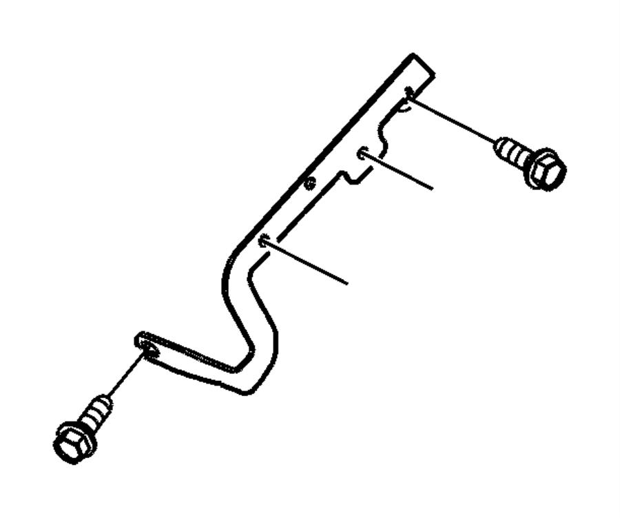 Chrysler Town  U0026 Country Bracket  Engine Wiring  Injector Harness  Injector Harness Bracket