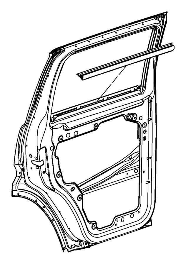 2011 jeep liberty weatherstrip  rear door belt inner  left