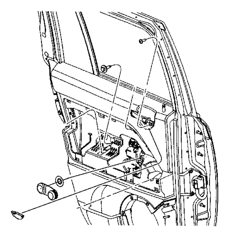 2013 jeep patriot spacer  window regulator  trim   all