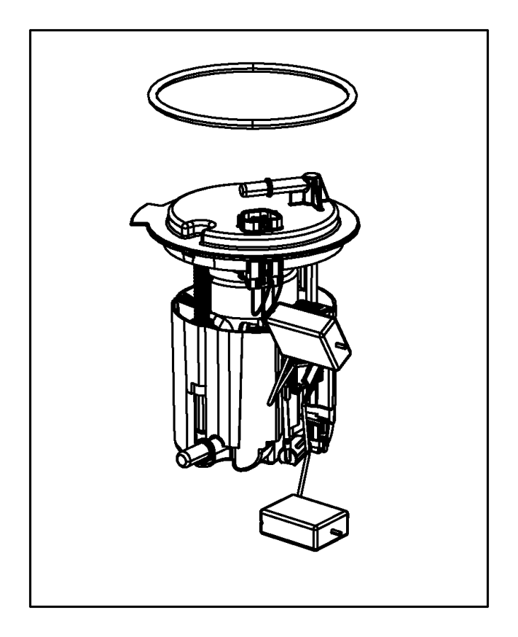 2014 jeep compass module kit  fuel pump  level unit  tank  group  equipment