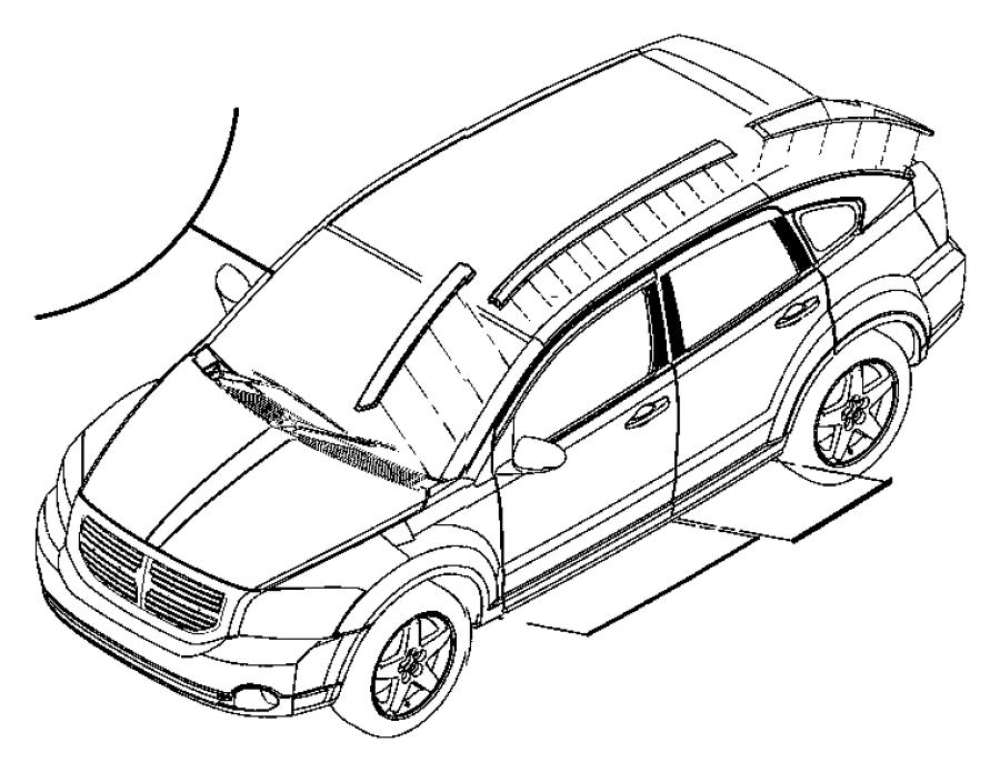 2008 Dodge Caliber Applique Left A Pillar Includes