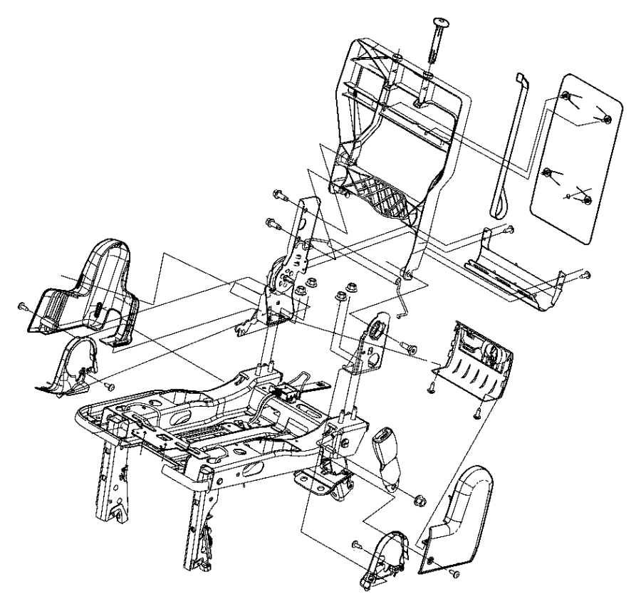 2014 ram c  v panel  seat back  trim   vinyl low-back bucket seats